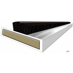 30 Minute Intumescent Fire & Smoke  - Strip 10mm x 4mm x 2100mm - White - (Self Adhesive Certifire & EN16343)