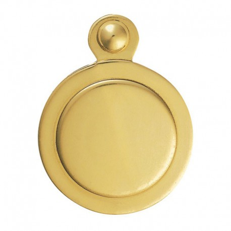 32mm Covered Escutcheon Polished Brass