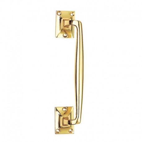 Jedo Victorian 225mm Cranked Pull Handle Polished Brass