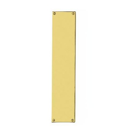 350mm x 75mm x 1.5mm Finger Push Plate Polished Brass