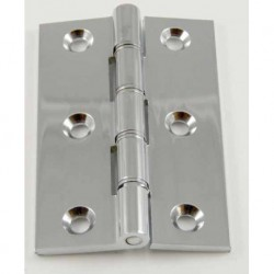 75mm x 50mm x 3mm DPBW (Double Phosphur Bronzed Washered) Butt Hinge - Chrome Plated