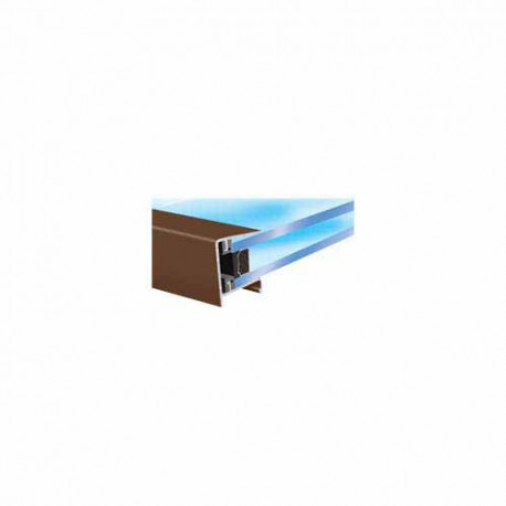 Exitex 25mm Aluminium Roof Sheeting End Closure 2100mm Brown