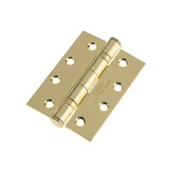 Grade 13 Ball Bearing Butt Hinge 100mm x 75mm x 3mm 30/60 Minute Fire Rated BSEN 1935 - Brass