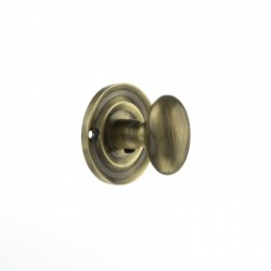 Old English Oval Bathroom Turn & Release Antique Brass
