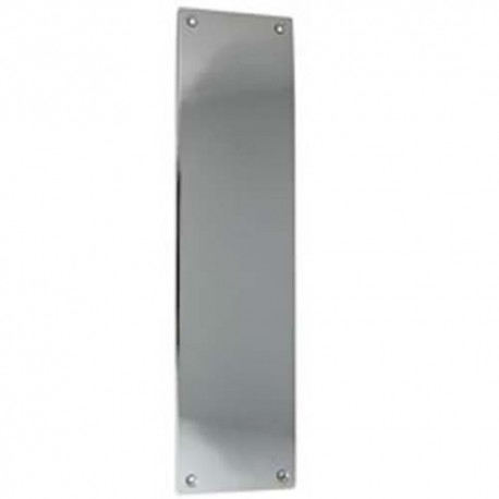 350mm x 75mm x 1.5mm Push Plate Polished Stainless Steel
