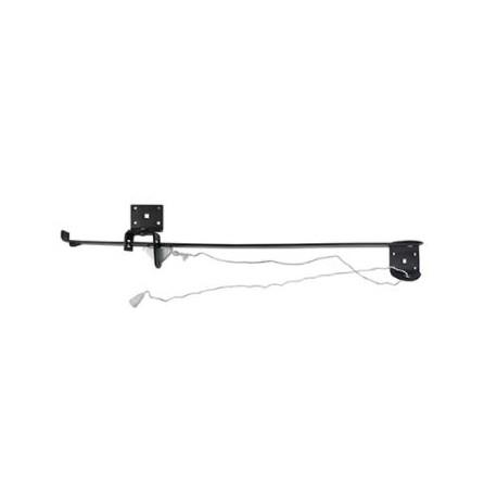 610mm Narrow Lintel Garage Door Holder Black