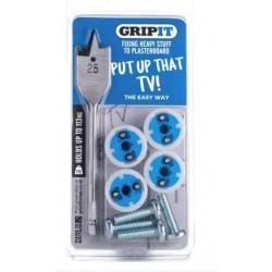 Gripit Blue 25mm Plasterboard Fixings (4 Per Pack)