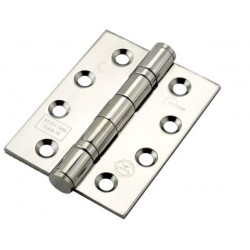 """Eclipse Grade 13 4"""" Ball Bearing Hinges Polished Stainless Steel"""