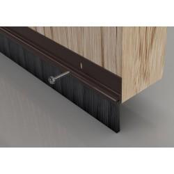 Stormguard Brown Bottom Door Brush Strip