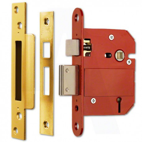 ERA 63mm High Security Fortress Mortice Sashlock c/w 44mm Backset & 57mm Centres - Brass Effect