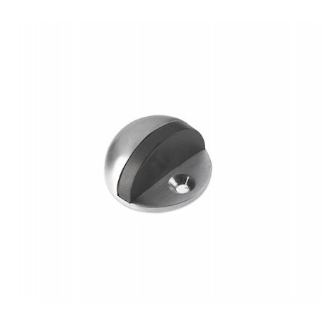 Floor Mounted Oval Door Stop Satin Stainless Steel