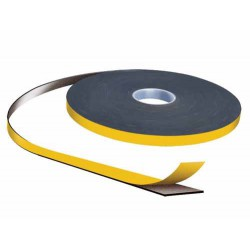 SDG 3mm x 12mm Double Sided PVC Security Tape 20m Roll Black