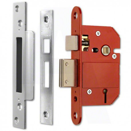 ERA 63mm High Security Fortress Mortice Sashlock c/w 44mm Backset & 57mm Centres Satin Chrome