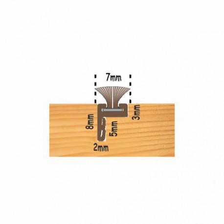 Slide Pile Carrier Offset Leg c/w 6.5mm Pile - 2200mm - White