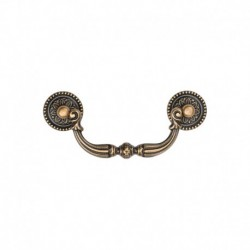 Ornate Drop Pull 096mm Distressed Brass finish