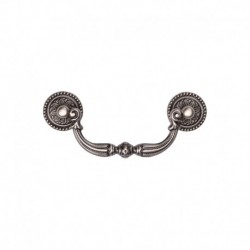 Ornate Drop Pull 096mm Distressed Pewter finish
