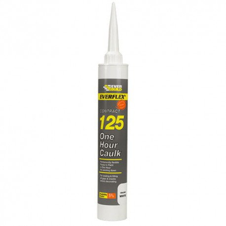 Everbuild 125 One Hour Caulk C3 Cartridge Size - Brown