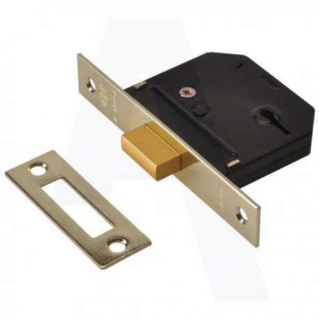 Union Essential 3 Lever Deadlock Polished Brass