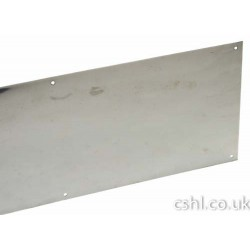 686mm x 200mm x 1.5mm Kick Plate Drilled & Csk c/w Screws Satin Stainless Steel