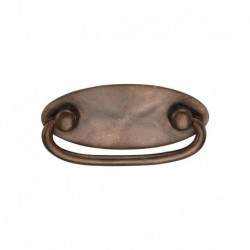 Solid Bronze Oval Drop Pull