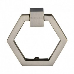 Heritage Brass Cabinet Drop Pull Hexagon Design 51mm Antique Brass finish