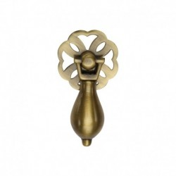 Heritage Brass Cabinet Drop Pull Antique Brass Finish