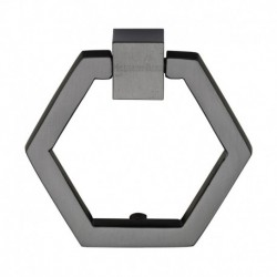 Heritage Brass Cabinet Drop Pull Hexagon Design 51mm Matt Bronze finish
