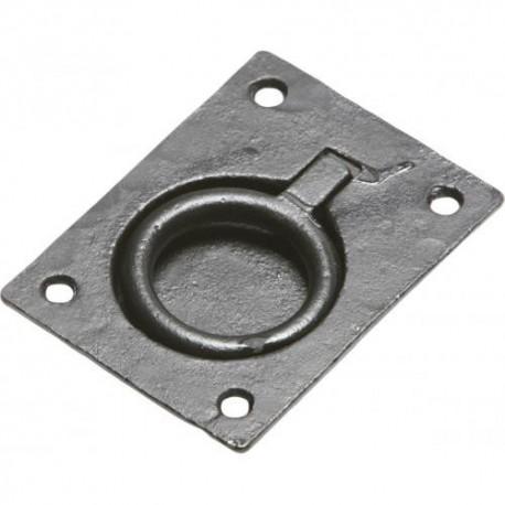 "Kirkpatrick 3062 3"" Black Antique Flush Ring Pull"