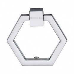 Heritage Brass Cabinet Drop Pull Hexagon Design 51mm Polished Chrome finish