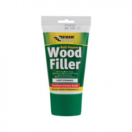 Everbuild Light Multi Purpose Wood Filler Premium Joiners Grade 1 Part 100ml Easy Squeeze Tube