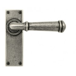 Finesse Design FD003 Durham Lever on Latch Backplate Pewter