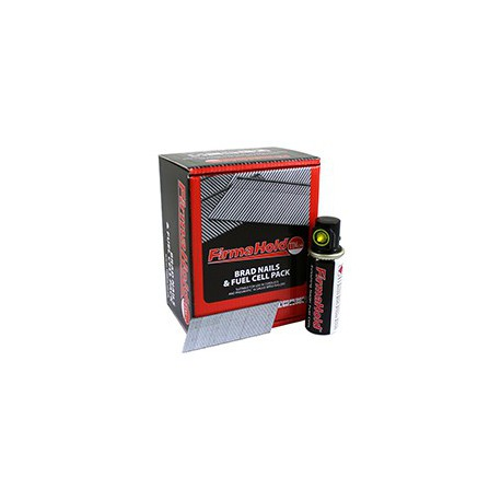 Firmahold 2nd Fix Brads 16G x 38mm Galvanised Straight 2000 Per Box c/w 2 Fuel Cells