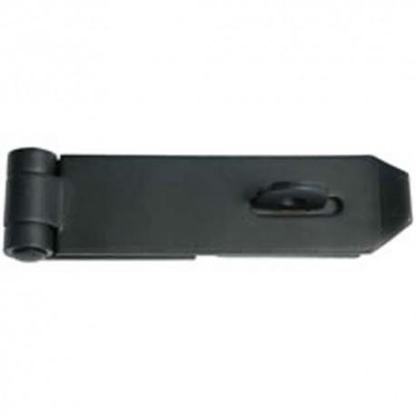 100mm Medium Safety Hasp & Staple Black