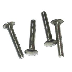 M8 x 80mm Dome Head Carriage Bolts  & Nuts - Zinc Plated