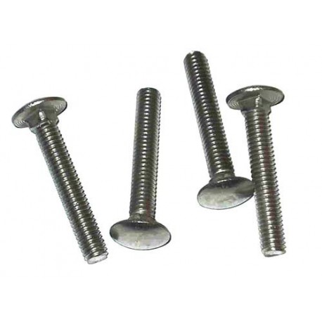 M8 x 80mm Dome Head Carriage Bolts & Nuts Zinc Plated