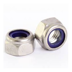 M10 Nylock Hex Nut - Zinc Plated