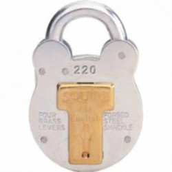 Squire 51mm 440 4 Lever Padlock Galvanised c/w Brass Bush Slide