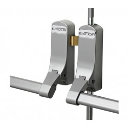 Exidor 285 Double Panic Bolt For  - Rebated Doors - Silver Suitable For - 2440mm High & 1220mm Wide BSEN1125