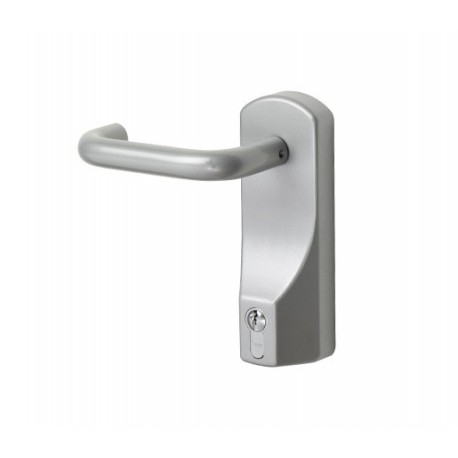 Exidor 322 Lever Operated Outside Access Device Silver