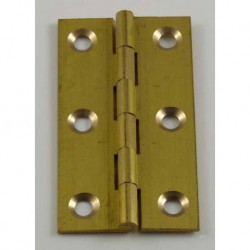63mm x 35mm Solid Drawn Brass Butt  Hinges