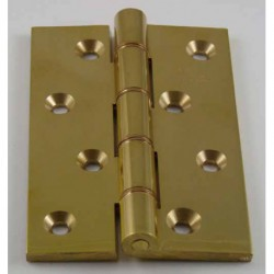 Jedo 102mm x 76mm x 4mm Double Phosphor Bronze Washered Butt Hinge Polished Brass
