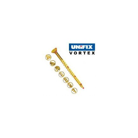 Vortex Yellow Passivated Woodscrews Pozi Csk 3.5mm x 12mm
