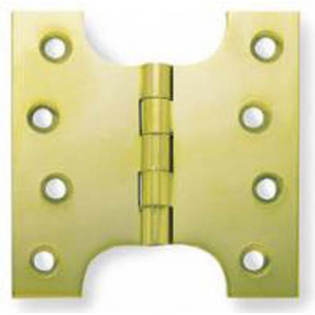 100mm x 75mm x 125mm Parliament Hinge Polished Brass