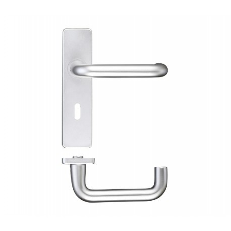 19mm Dia. Return To Door Lever On- 8mm Concealed Lock Backplate c/wBolt Fixings & 57mm Centres - S.A.A