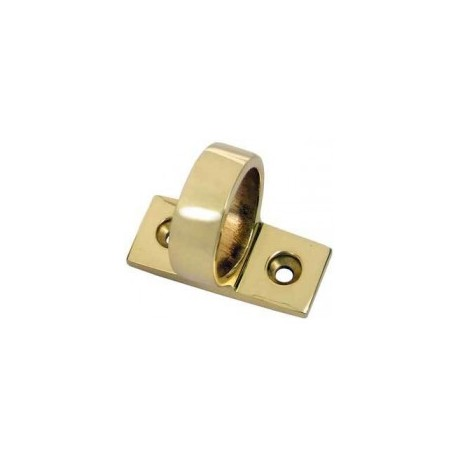 Victorian Face Fix Sash Window Ring 35mm - Polished Brass