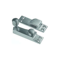 Beehive Sash Window Non Locking- 60mm Quadrant Arm Fastener -Satin Chrome