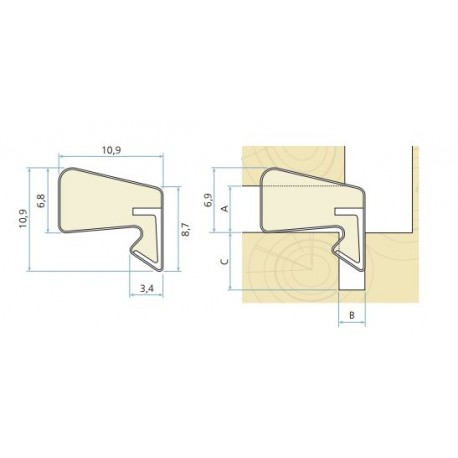 Schlegel Aquamac 109 Weather Seal For Windows & Doors Seals Gaps 3.5mm To 5.5mm - Bronze (250M Coil)