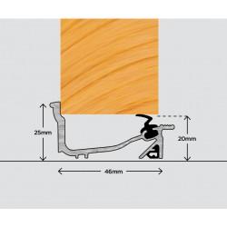 Exitex Macclex Lowline Inward Open Door Sill Threshold 1829mm - Silver