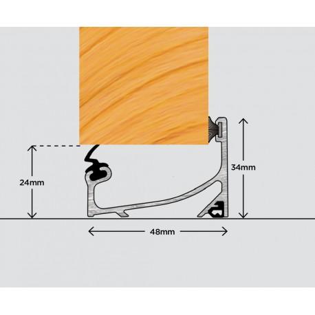 Exitex OUD Outward Open Door Sill 1220mm - Silver