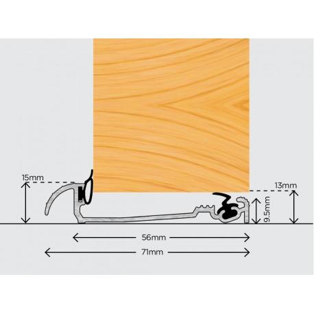Exitex Macclex 15/56 Inward Open Door Sill Threshold 1220mm - Gold